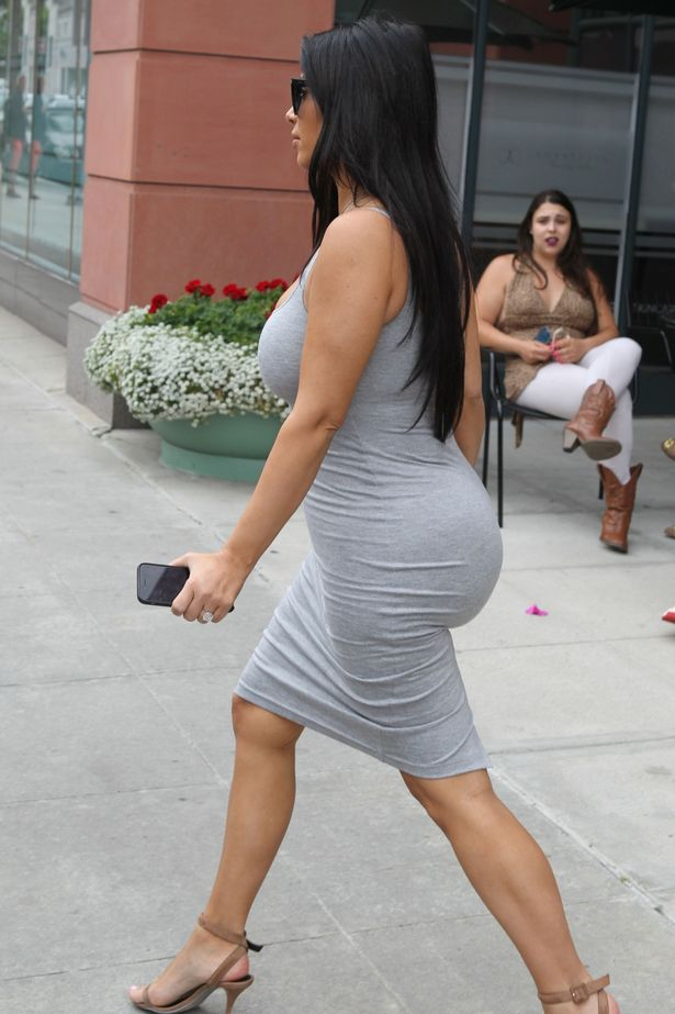 Kim's out of shape butt.