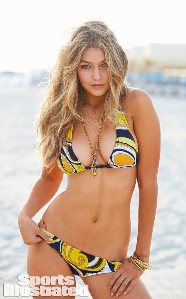 Gigi Hadid big boobs in bikini