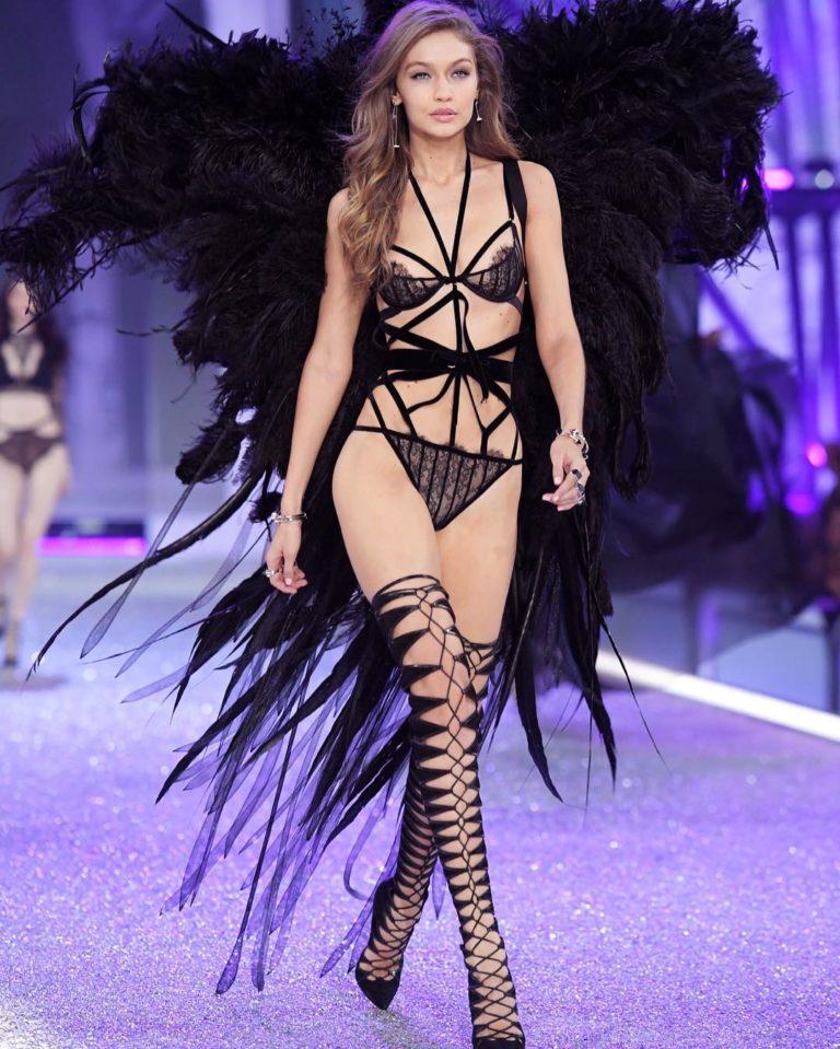 Gigi Hadid sexy lingerie