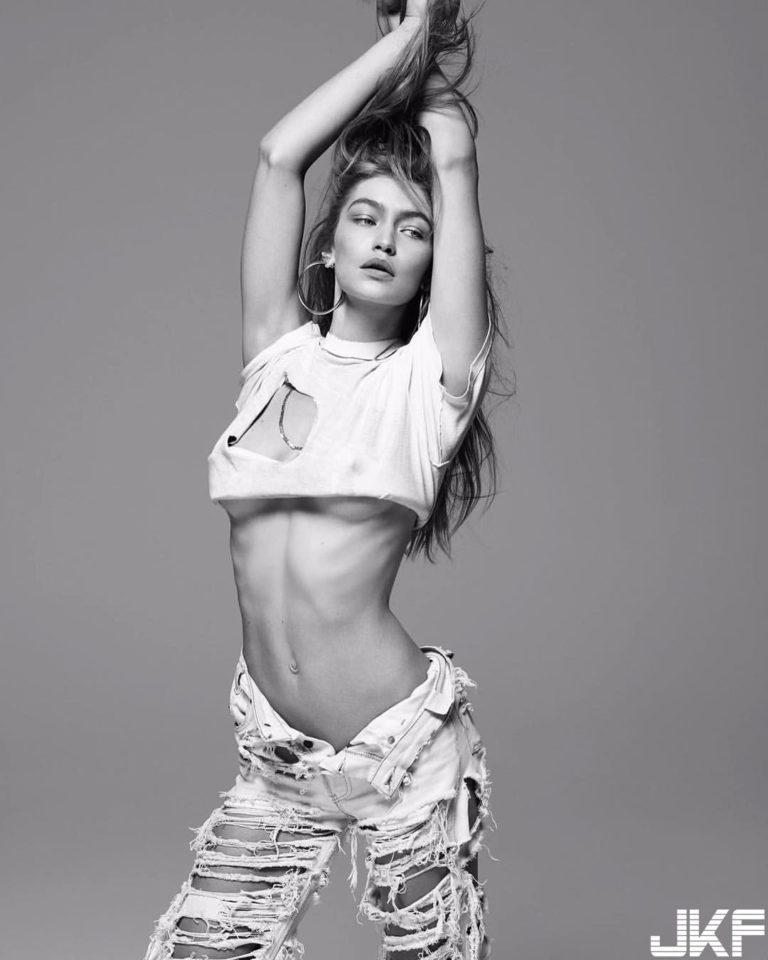 Gigi Hadid underboob exposed