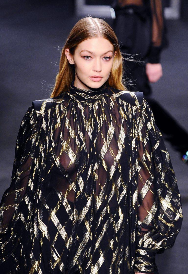 Gigi Hadid see through outfit