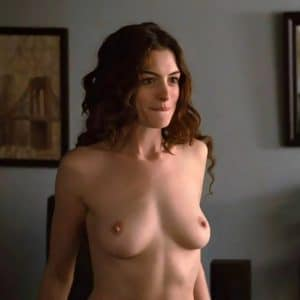 Anne Hathaway Tits Out For Show