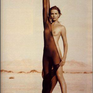 Charlize Theron Modeling Naked