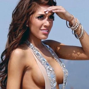 Teen Mom Farrah Abraham's Boobs Hanging Out On The Beach