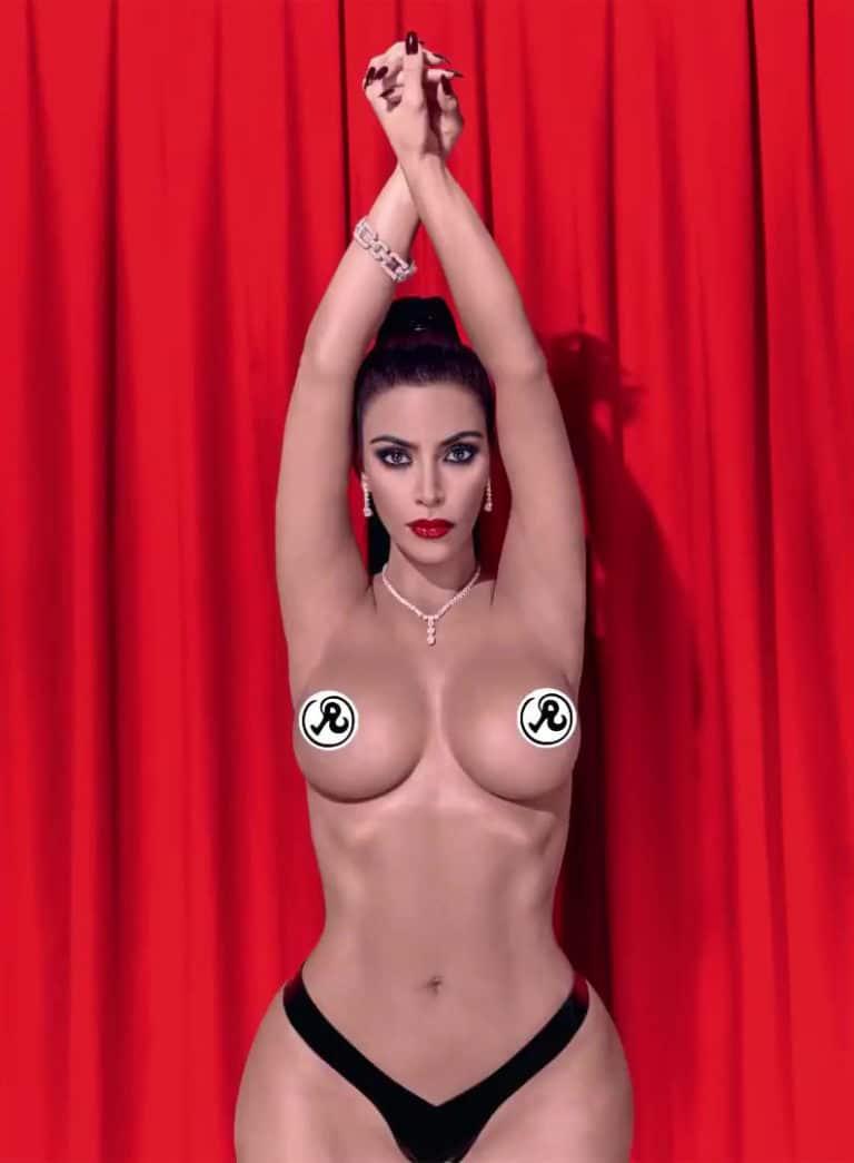 Kim Kardashian tits in Richardson photshoot