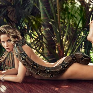 Jennifer Lawrence Poses Nude With A Snake For Vanity Fair