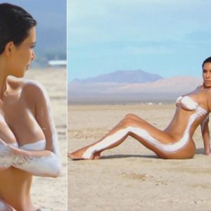 Kimmy Kardashian Bares Her Curvy Bod In Desert Photo Shoot