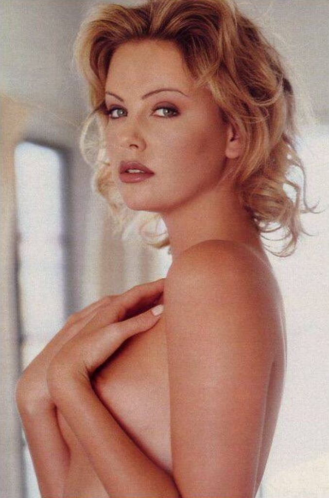 Charlize Theron young in playboy