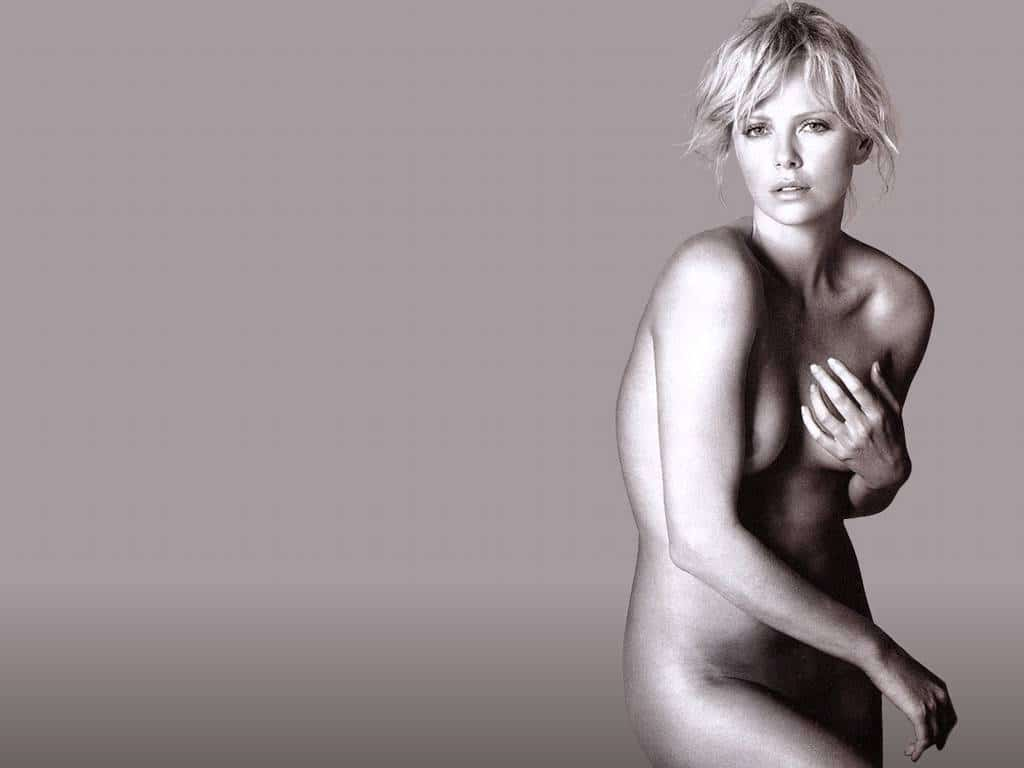 naked images of charlize theron