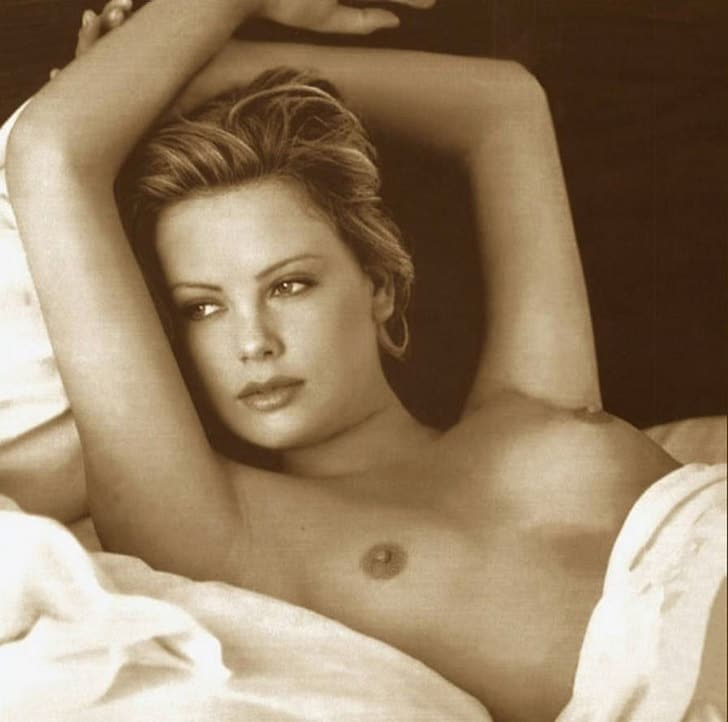 Charlize Theron Playboy Topless