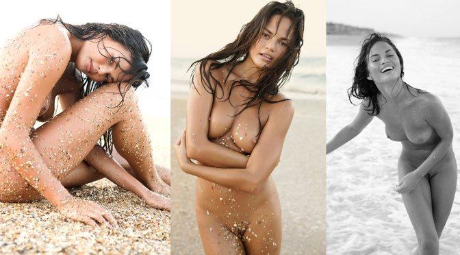 Chrissy Teigen naked modeling (1)