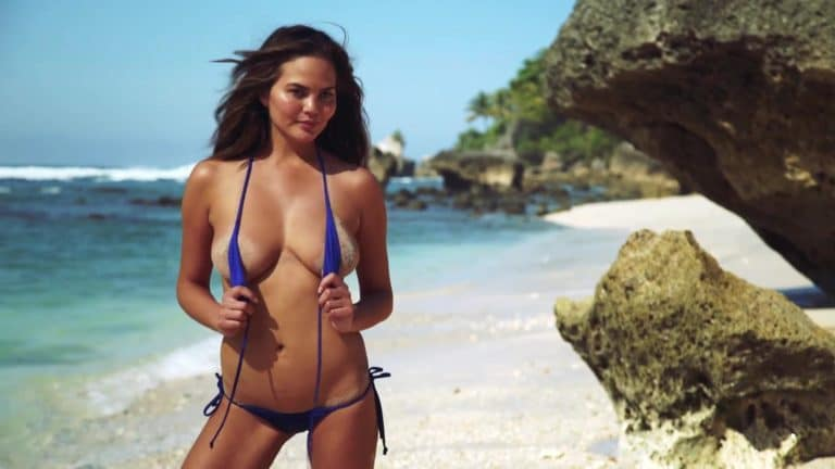 Chrissy Teigen sexy uncovered sports illustrated pics