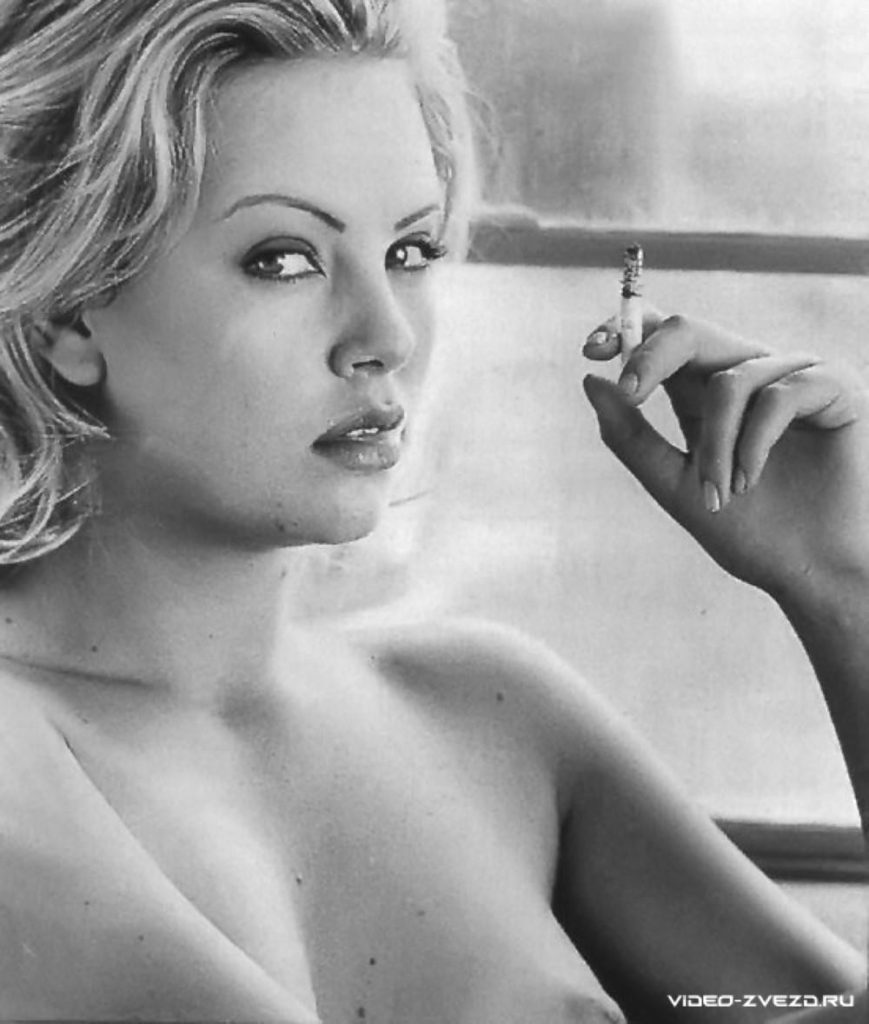 Charlize Theron Playboy BW