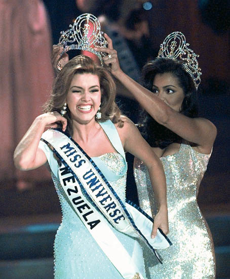 Alicia Machado Crowned Miss Universe in 1996