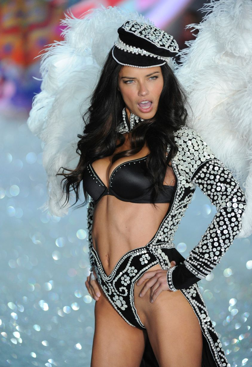Adriana walking the runway for Victoria Secret