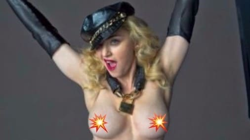 Madonna supports Hillary Clinton with nude photo of herself