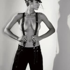 hannah ferguson nude in suspenders for maxim magazine