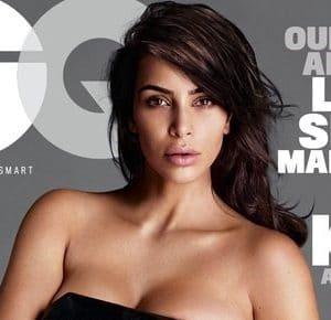 Kim Kardashian models nude gq magazine