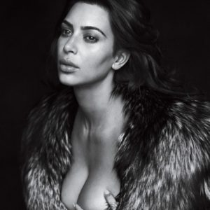kim kardashian grabs boob in gq magazine shoot