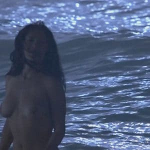 hot salma hayek skinny dipping in the ocean naked