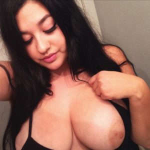 naked tits of lena nersesian in boob selfie