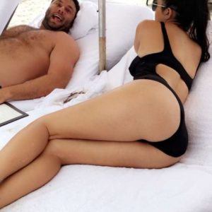 Kourtney Kardashian gorgeous ass in swimsuit crotch shot