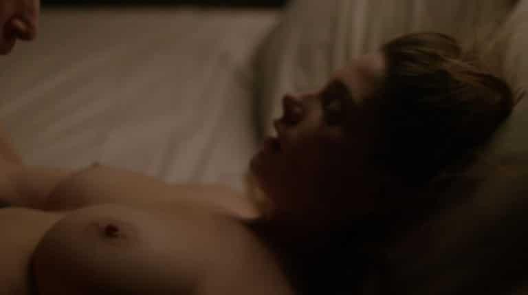 brunette ashley greene's perfect titties exposed in a sex scene