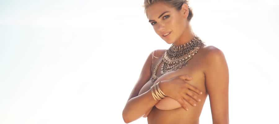 Kate Upton covering boobs SI 2017