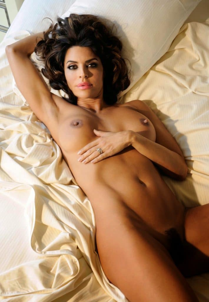 Lisa Rinna naked on bed Playboy