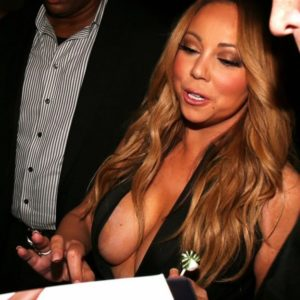 nipples exposed of mariah carey in cleavage dress