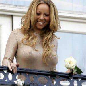 see through top shows mariah carey's big tits and nipples