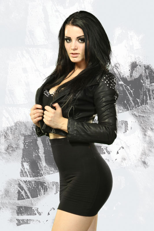 Sexy pic of Paige WWE in tight black dress showing off her nice ass