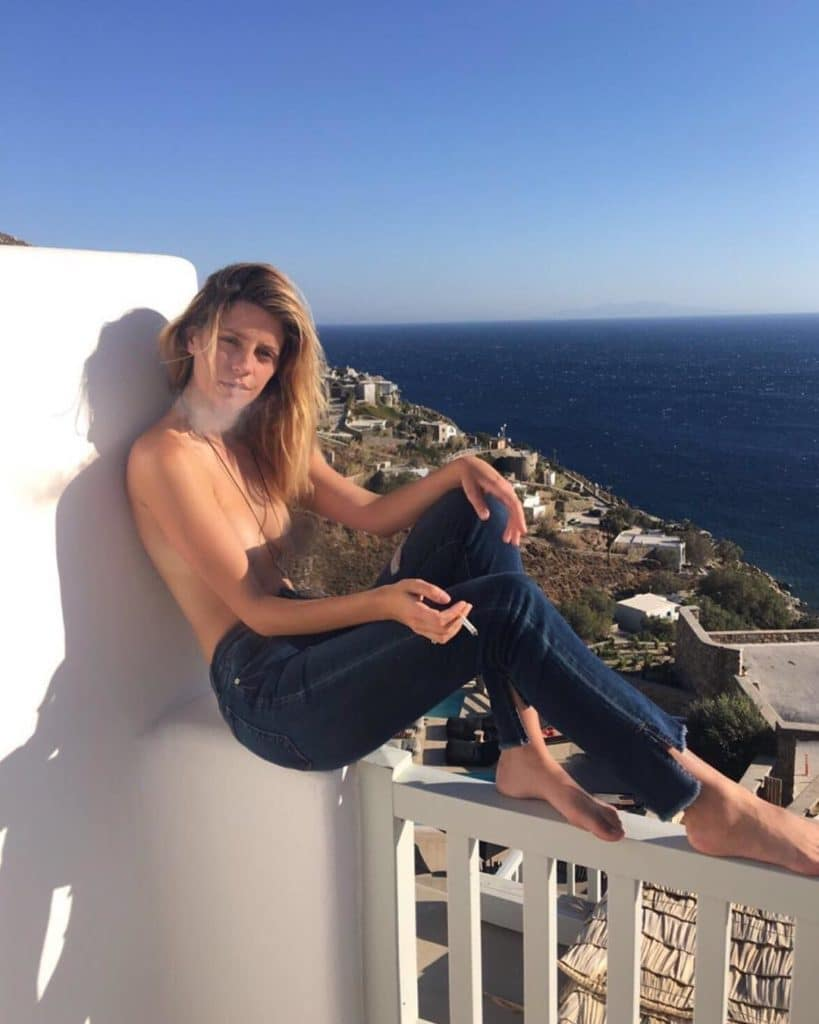 Mischa Barton topless in Greece