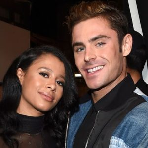 hot actor zac efron and fashionista gf sami miro smiling for the camera