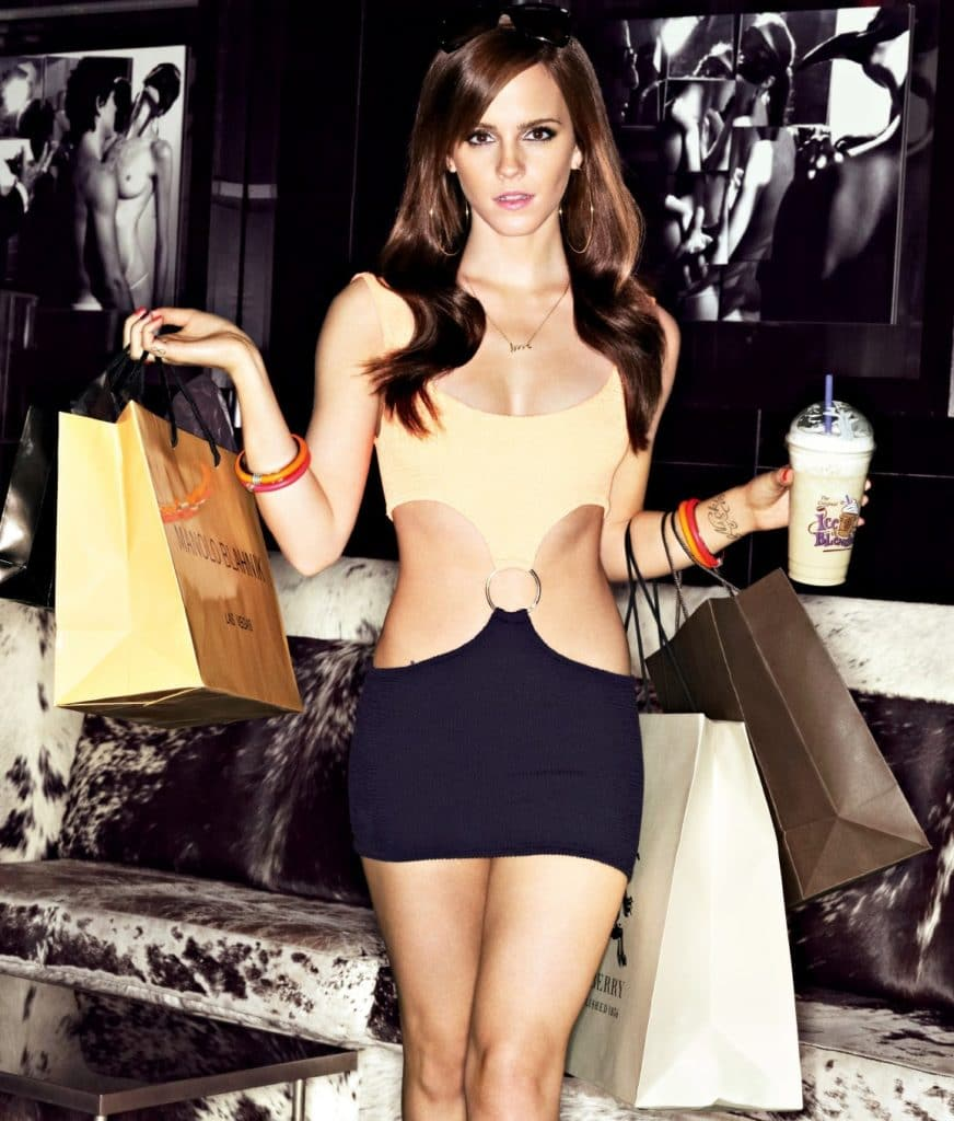 gorgeous pic of emma watson in heels and a mini skirt looking sexy