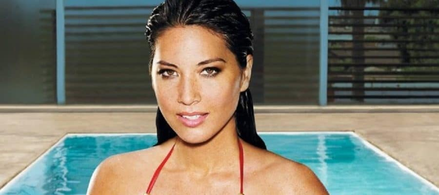 celebrity beauty olivia munn in red bikini for playboy