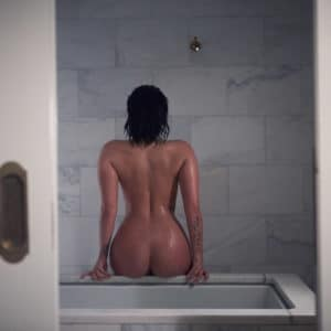 Demi Lovato's backside uncovered in bathroom modeling pic