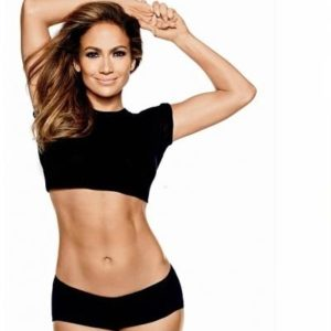 Jennifer Lopez showing off her fit body