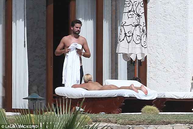 Sofia Richie nude laying out in Mexico
