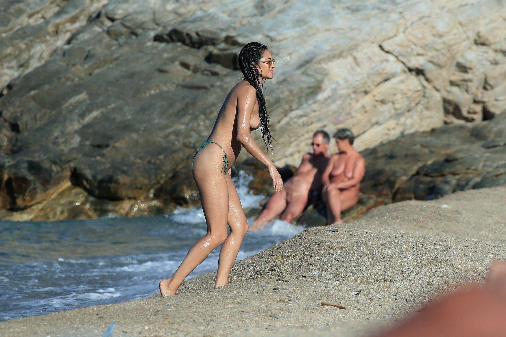 Shay Mitchell boobs show