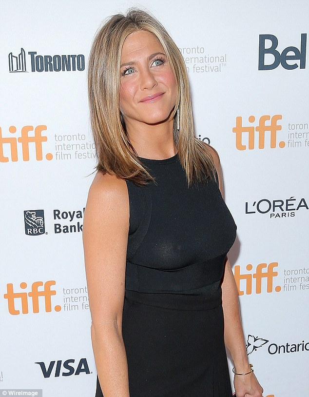 Jennifer Aniston see through shirt
