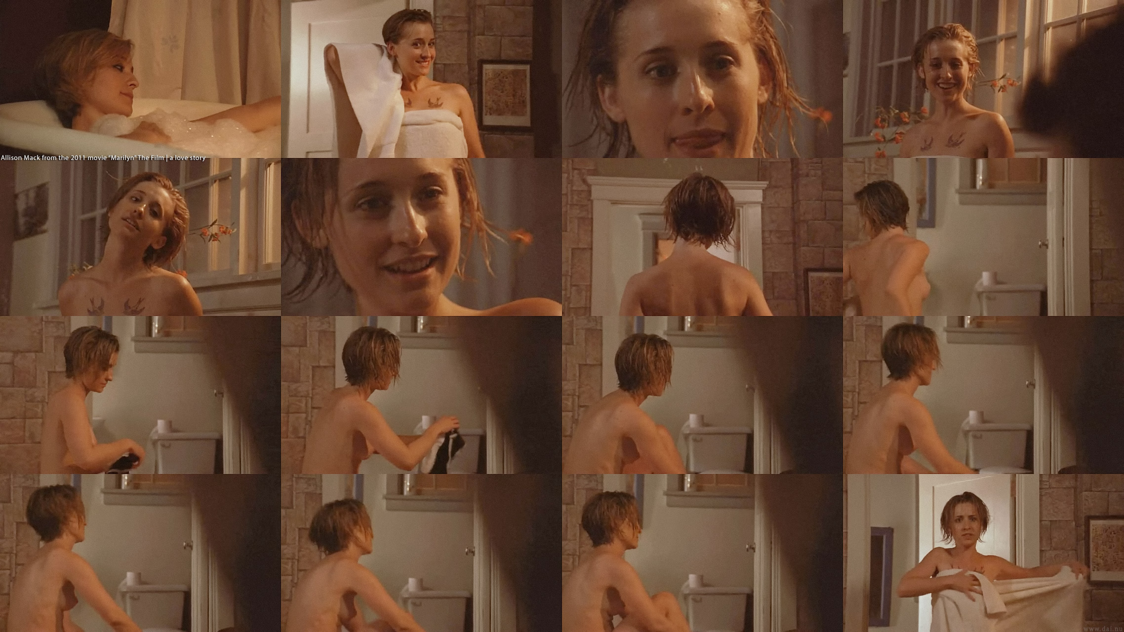Allison Mack nude pics in Marilyn film (8)