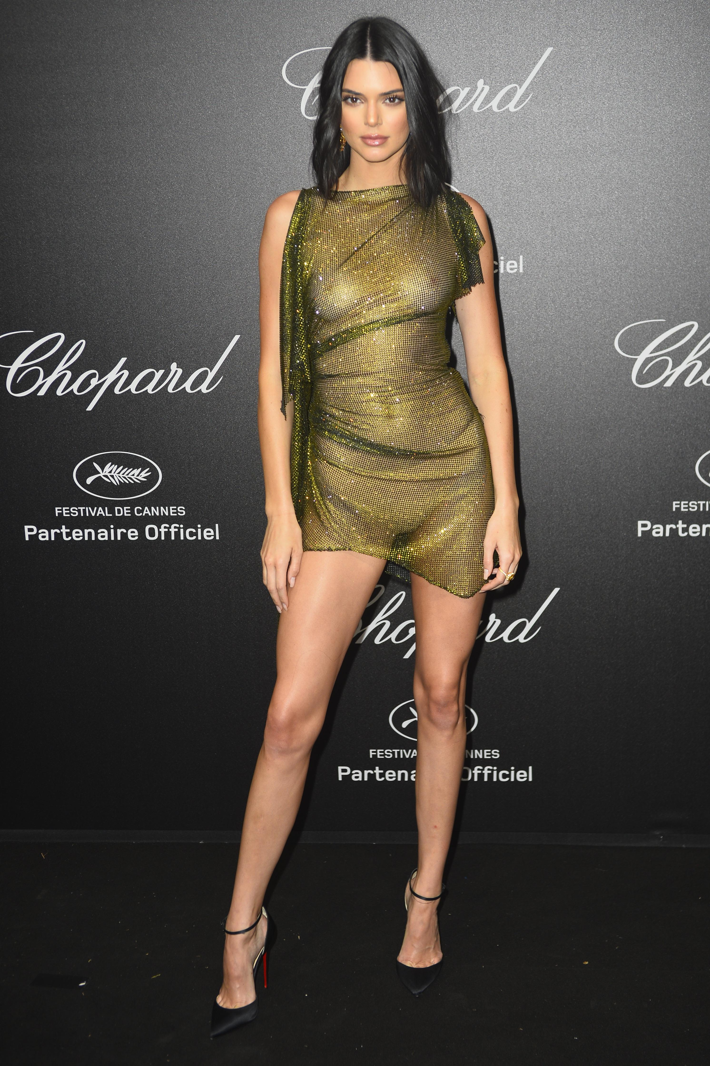 Kendall Jenner pussy showing