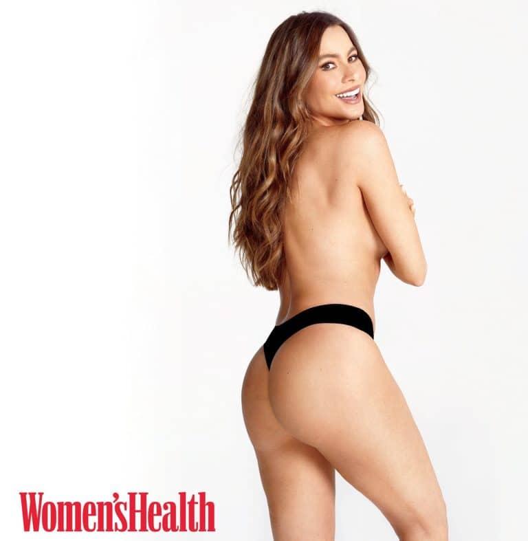 Sofia Vergara topless in Women's Health Magazine