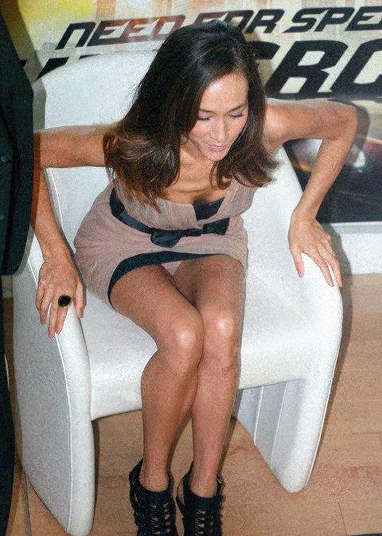Maggie Q up skirt photo